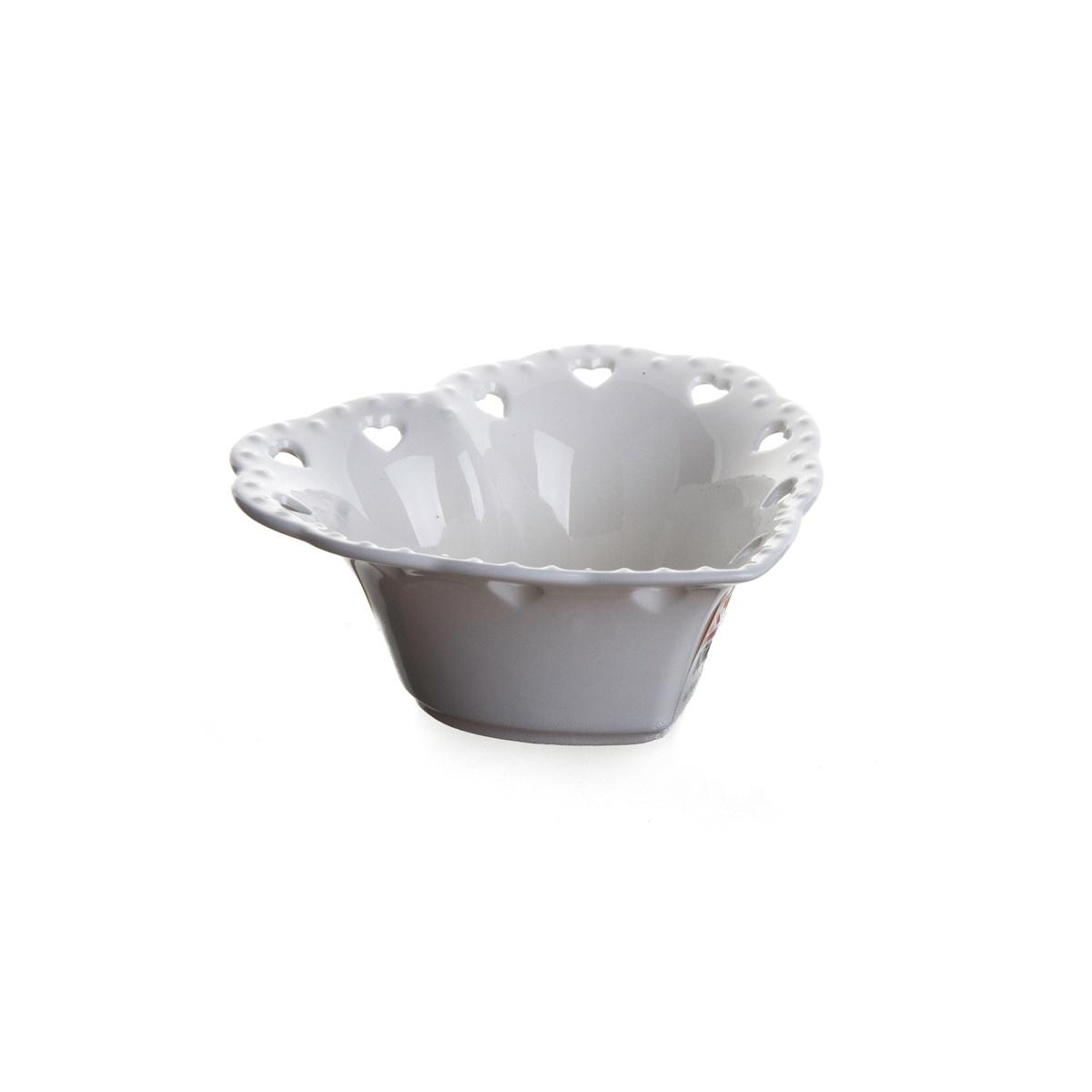 Standart Ultraform Porselen Delikli Kalp Kase 10 Cm